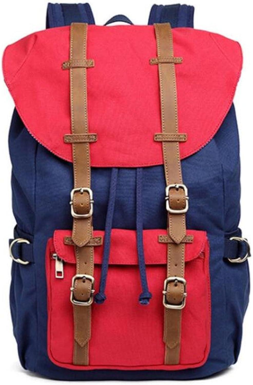 MYLL Outdoor Canvas Rucksack, Reisen Wandern Camping Rucksack Pack, Große Casual College School Daypack B07FPP16HQ  Große Klassifizierung