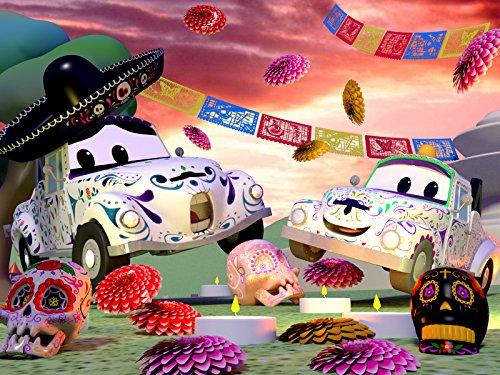 Das Skelett Auto /Dia de Los Muertos