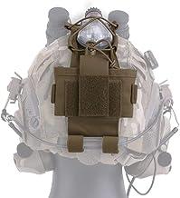 KRYDEX MK3 Combat Helmet Counterweight/Storage AN/PVS-31 Battery Box Balance Weight Bag with Hook and Loop