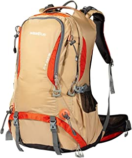 Mountaineering Bag Female 40L50L Outdoor Backpack Male Travel Bag Travel Backpack Outdoor Bag XLSM (Color : Yellow, Size : 55cm×36cm×27cm)