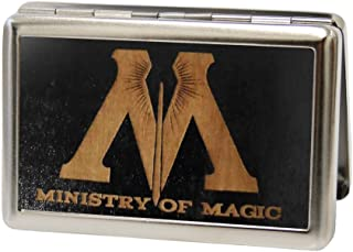 Buckle-Down Metal Wallet-M-Ministry of Magic Symbol Gw Black