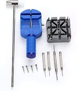 11Pcs Watch Repair Tools Kit Set Portable Watch Band Link Remover Spring Bar Pins Punch Pin Pusher Repair Tool Kit-Silver-1 Size