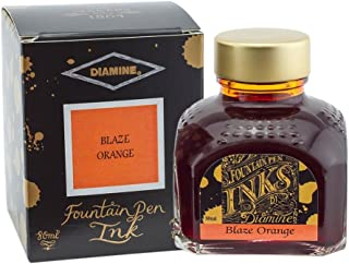 Diamine 80 ml Bottle Fountain Pen Ink, Blaze Orange