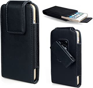 PU Leather Belt Clip Holster Pouch Case for iPhone 8 Plus/iPhone X/Samsung Galaxy Note 8 / S8 Active / J7 Pro/LG V30 / LG X Ventrue/Bluboo S8 / Elephone S8 (Black)