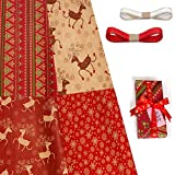 Comius Sharp Designer Trendy Papel de regalo Envoltura de regalo Paquete múltiple 4 hojas Papel Kraft Papel 100% reciclable