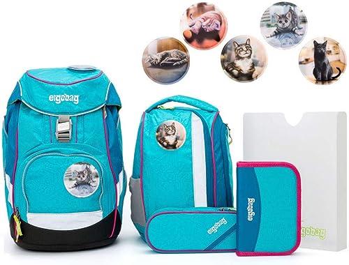Ergobag Pack Set 6tlg Hula HoopB mit Wunschkletties Katzen