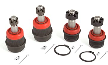 Alloy USA 11800 Upper & Lower Ball Joint Kit - 4 Pieces for 2007-2018 Jeep Wrangler/Grand Cherokee Models