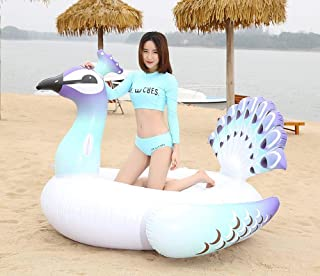 Zoostliss Giant Inflatable Peacock Pool Float, Pool Island, Beach Floaties for Swim Pool Party Toy Summer Pool Raft Pool Float for Adults & Kids