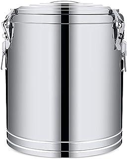 Electric oven Seau d'acier Inoxydable, Seau De Soupe D'isolation Commerciale Laitde Seau de thé au Lait de Grande Capacité...