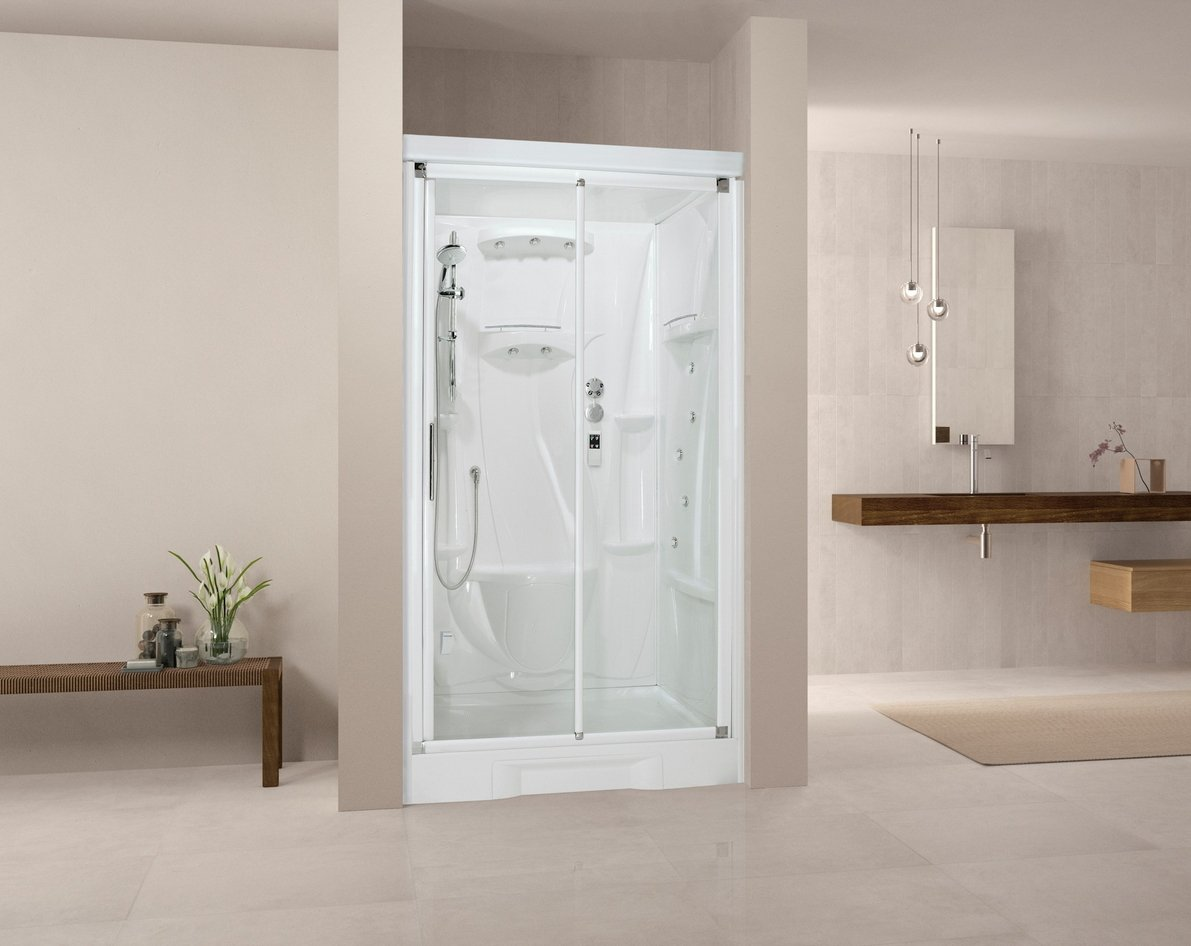 Cabina de ducha integral New Holiday bi120 X 80 cm grifo ...