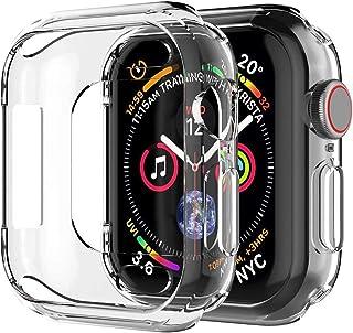 ivoler [3-pack] kompatibel med Apple Watch SE/Apple Watch serie 6/5/4 44 mm fodral, transparent flexibel silikon mjuk TPU-...