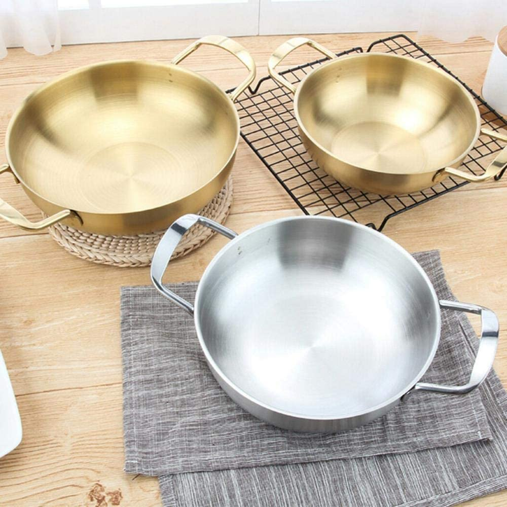 Acier inoxydable classique du chef quotidien diamètre des pots-intérieur 18cm / 20cm / 22cm, Jaune liuchang20 (Color : Yellow) Yellow