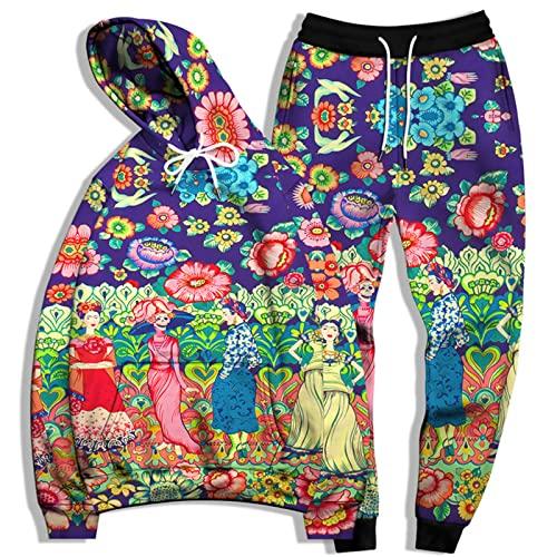 SSBZYES Traje De Sudadera para Hombre Sudadera De Talla Grande para Hombre Pantalones De Chándal De Talla Grande Sudadera con Capucha Estampada a La Moda Suéter con Capucha Traje Deportivo