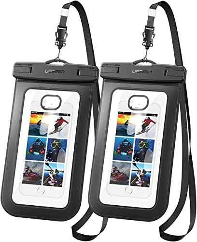 wholesale UGREEN Universal Waterproof Case 2 Pack Cell Phone Pouch Dry Bag Compatible for iPhone 11 Pro Max, iPhone SE 2021 2020, iPhone X discount XR XS 8 Plus 7 6S 6 5, Samsung Galaxy S20 S10 S9 S8 Plus Note 8 S7 Edge S6 outlet online sale