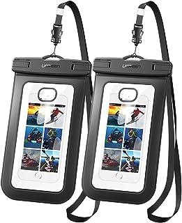 UGREEN Funda Impermeable para Celular, Waterproof Phone Pouch Case para iPhone XS/XR/X / 8 Plus, Dry Bag 2 Pack para Samsu...