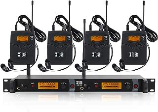 IEM1200 Sistema de monitor inalámbrico en oído, monitoreo de bodypack 2/4 de 2 canales, con audífono, tipo inalámbrico, ut...