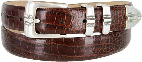 Kaymen Italian Calfskin Leather Designer Dress Golf Belts for Men 1-1/8 Wide