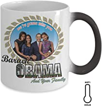 We're Gonna Miss You Barack Obama The Great Pesident In Our Heart -11 Oz Color Changing Mug For Colleague Friend Mother Father Son Daughter Relative Thanksgiving Easter Christmas Halloween Pefect Gift