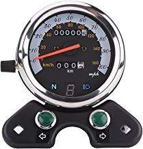Qiilu Universal Motocicleta Doble Velocímetro Odómetro Engranaje Pantalla Digital