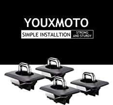 Youxmoto 1000 Pound Capacity Retractable Tie Downs Pickup Anchors, Truck Top Bed Rail Mounted Anchors for 1998-2014 F-150,1998-2016 Super Duty (Pack of 4)