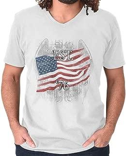 76 Flag America USA United States Patriotic V-Neck T Shirt