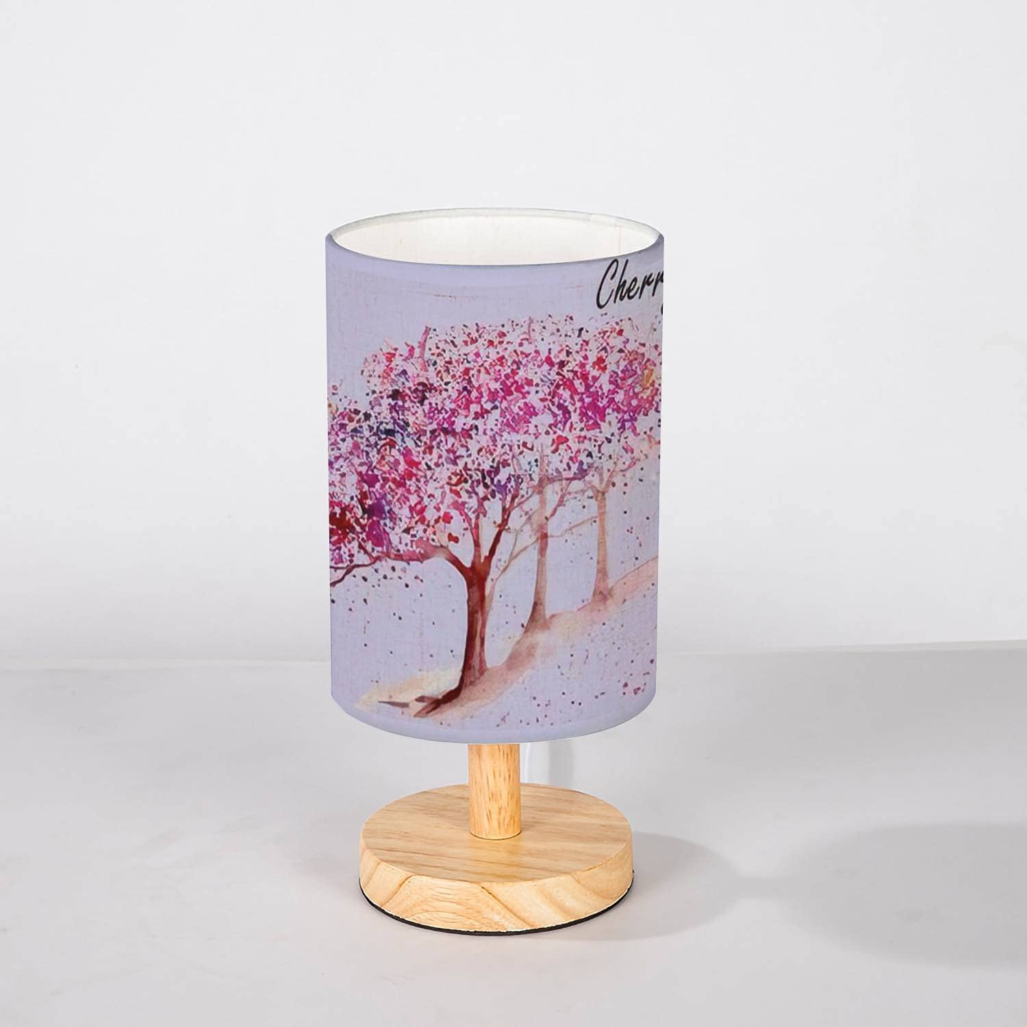 NEW before selling Minimalist Bedside Table Lamp Cherry Drawn Trees Hand Watercolor Popular standard