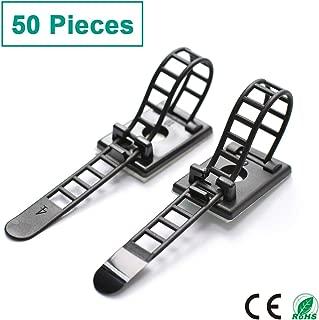50/piezas Negro Pl/ástico Soporte De Cable El/éctrico Cable Clips Cable de tel/éfono Internet TV fixings