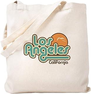 Womens Cali Life California Black Logo Canvas Shoulder Bag Reusable Tote Bag for Shopping