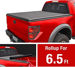 MaxMate Soft Roll Up Truck Bed Tonneau Cover for 2009-2014 Ford F-150 | Styleside 6.5' Bed | for Models Without Utility Track System