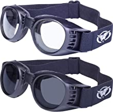 Two Pairs of Paragon Motorcycle Goggles One Clear Lenses and One Smoke Lenses Black Frames Will Accommodate Prescription Lenses, Soft Airy Foam for Comfort, Adjustable Vents