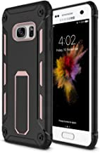 Galaxy S7 Case, Vabogu [Heavy Duty] Soft TPU & Hard PC Rugged Dual Layer Case with Kickstand for Samsung Galaxy S7 (Rose Gold)