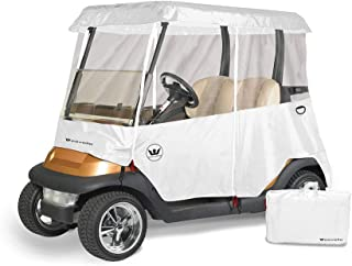 Greenline Drivable Golf Cart Enclosures by Eevelle, Heavy Duty 300D 2 Passenger Universal Fit