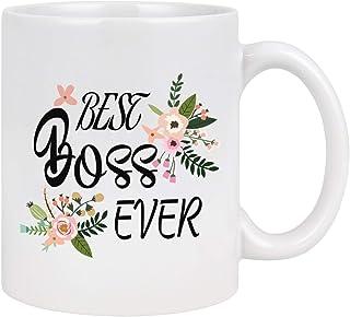 WTOMUG Best Boss Ever Mug Best Boss Gifts Boss Coffee Mug Coffee Mug for Boss Elephant Christmas Birthday Gifts for Boss 11Oz