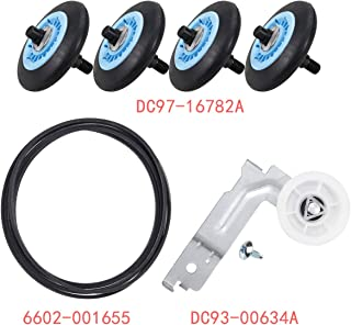 Dryer Repair Kit Replacement Samsung Dryer Belt Maintenance Kit Include DC97-16782A Roller DC93-00634A Indler Pulley 6602-001655 Belt Replace AP5325135 AP4373659 AP6038887 PS4221885 PS4133825