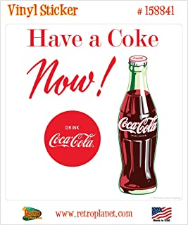 Retro Planet Coca-Cola Have a Coke Now Vinyl Sticker Vintage Style Decal