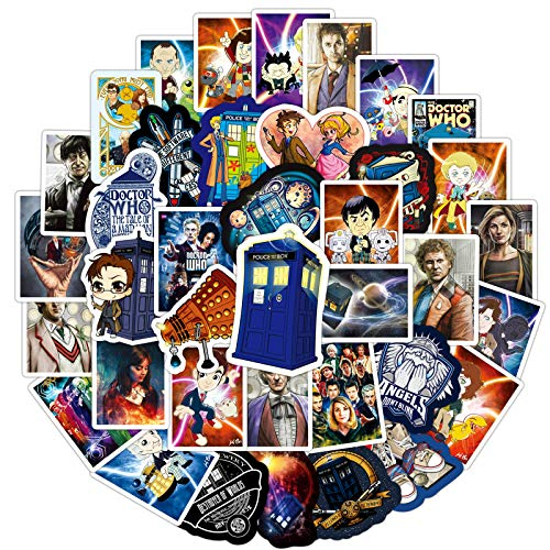100Pcs Doctor Who Stickers for Laptop and Decals,Vinyl Stickers for Water Bottle Laptop Stickers Pack