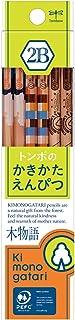 トンボ鉛筆 鉛筆 F木物語 かきかた 2B 黄緑柄 1ダース KB-KF02-2B