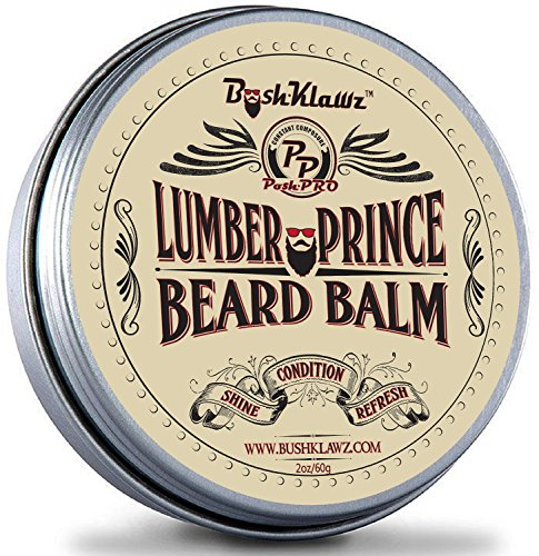 Naked Prince Scent Free All Natural Beard Balm Leave in Conditioner Beard Butter Moisturizer Premium Scentless Fragrance-Free Great for Hunters - Best Leave in Conditioner Balm for Bearded Men