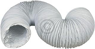 TronicXL Premium Abluftschlauch 150mm - 5m für Klimagerät Klimaanlage Dunstabzugshaube Trockner 150er rund 5 Meter 6 Zoll flexibel flexibler Abluft Schlauch weiß stabil Küche