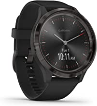 Garmin Vívomove HR Sport Fitness Tracker, Zwart Siliconen Armband, Maat: L - 43 mm
