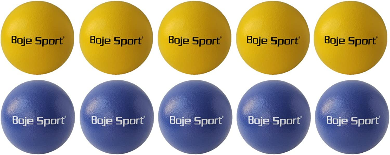Boje Sport 10x Softball mit Elefantenhaut  ca. 16 cm je 5X gelb und blau