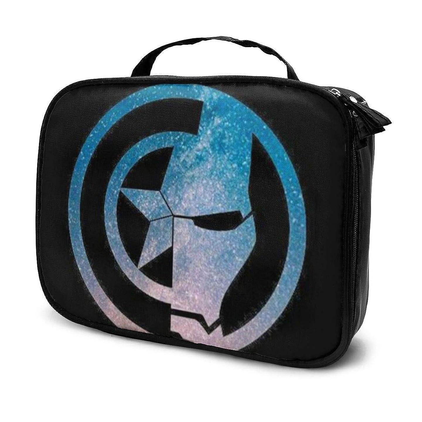 選択する連隊混合Daituキャプテン?アメリカとアイアンマン 化粧品袋の女性旅行バッグ収納大容量防水アクセサリー旅行