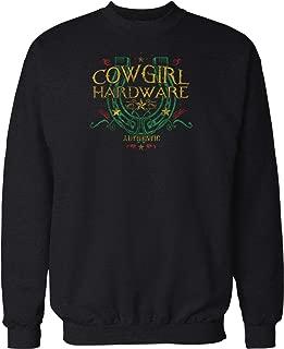 Hoodteez Cowgirl Hardware, Lucky Horseshoe Crew Neck Sweatshirt