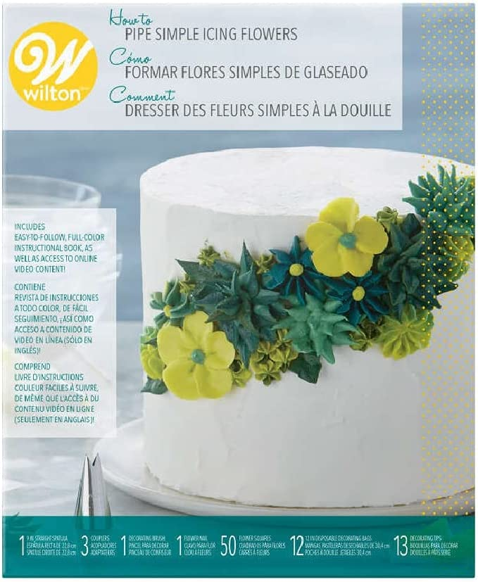 How to Pipe Simple Icing 68-Piece Kit Flowers Cheap mail order 1 year warranty sales Cake Decorating