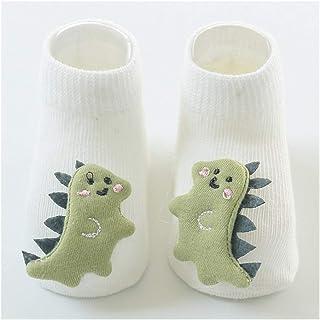 lejia, lejia 1 par Piso del bebé Niño Niña Los niños Infante Dinosaurio Gato algodón Anti Skid niño Antideslizante Calcetines del Deslizador (Color : 5, tamaño : M)
