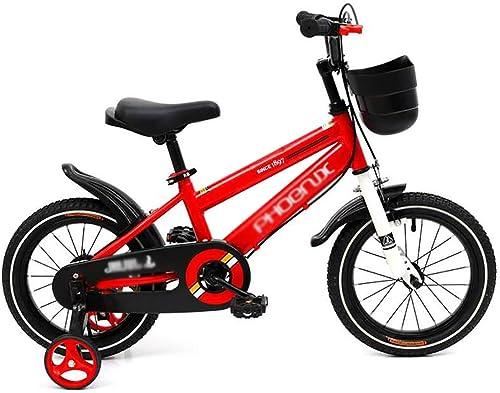Kinderfahrrad,Kinder Fahrrad 3 farben,in Größe 12 , 14 , 16 18 mit Stabilisatoren,rot,14in
