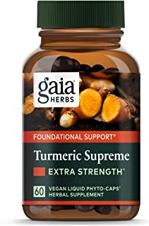 Gaia Herbs, Turmeric Supreme Extra Strength, Turmeric Curcumin Supplement with Black Pepper, Daily Joint Support & Healthy...