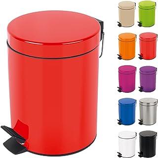 Spirella Poubelle 3 ou 5 litres Métal Sydney avec récipient intérieur en Plastique récyclé Salle de Bains Poubelle à pédal...