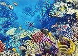YongFoto 1,5x1m fondo submarino del mundo fondo océano bajo el agua peces coral azul mar acuario fondos para fotografía interior TV decoración de pared vinilo foto fondo niños retratos Studio Props