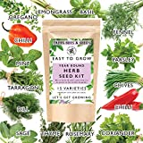 Herb Seeds for Gardening, 15 Seed Varieties Included in This Grow Your Own Herb Garden Kit, The Trees Bees &...